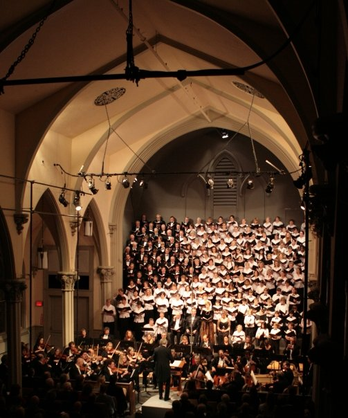 Mr Kent conducts the chorus in their beautiful performance in Westerly, Rhode Island.